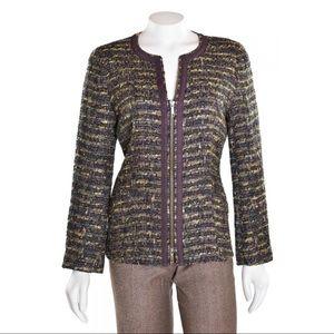 Lafayette 148 New York green tweed jacket